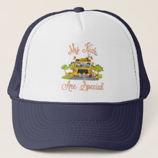 School bus driver My kids are special Trucker Hat