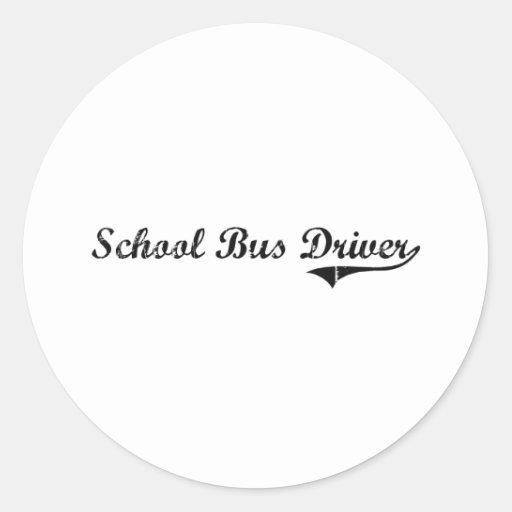 School Bus Driver Professional Job Stickers