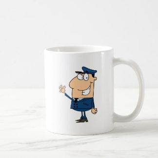 School Bus Driver School Waving Coffee Mug