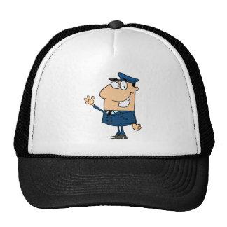 School Bus Driver School Waving Trucker Hat