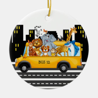 School Bus Driver - SRF Ceramic Ornament
