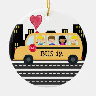 School Bus Driver - SRF Ceramic Ornament