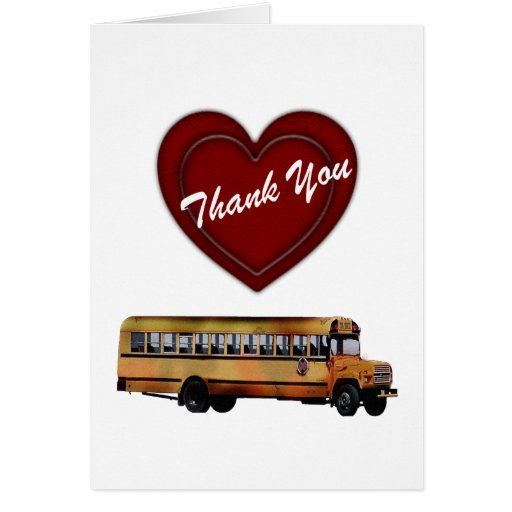 Bus Driver Thank You Card Printable Boat
