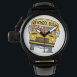 "School bus driver wrist watch<br><div class=""desc"">Awesome gist to give that Bus driver  make them smile.!!</div>"