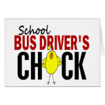 School Bus Driver's Chick Cards