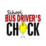 School Bus Driver's Chick Post Cards