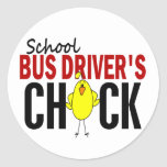 School Bus Driver's Chick Stickers