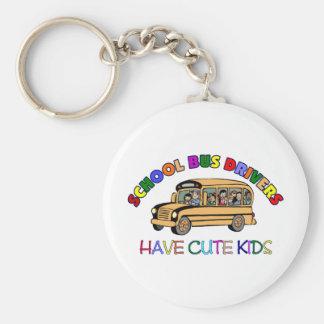 School Bus Drivers Have Cute Kids Basic Round Button Keychain