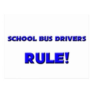 School Bus Drivers Rule! Postcard