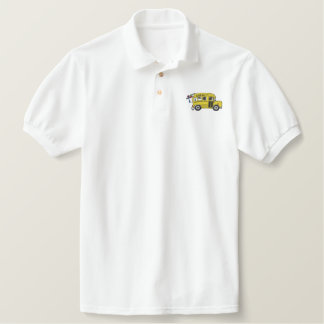 School Bus Embroidered Polo Shirt