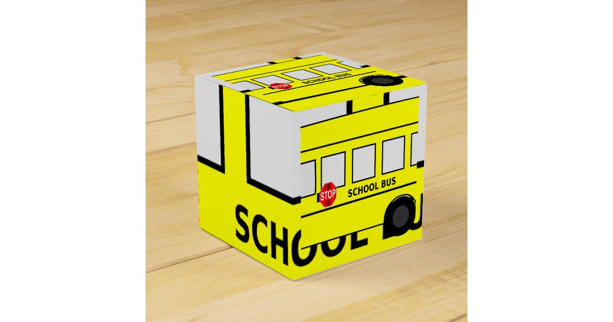 School bus favor box zazzle for Bat box obi