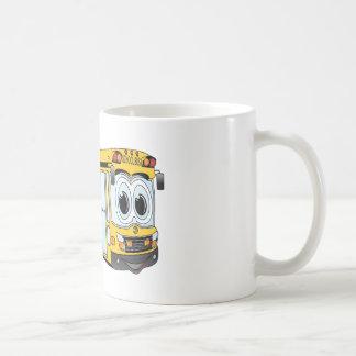 School Bus Flat Nose Cartoon Coffee Mug