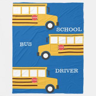 School Bus Fleece Blanket