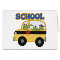 School Bus Frogs Card