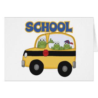School Bus Frogs Card