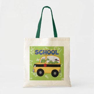 School Bus Frogs Tote Bag