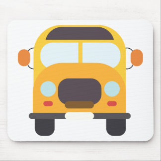 School Bus Front Mouse Pad