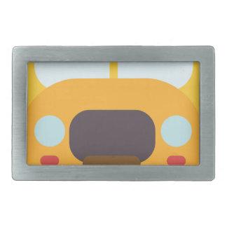 School Bus Front Rectangular Belt Buckle