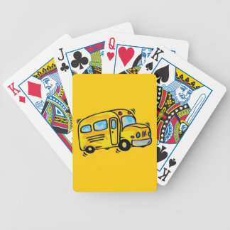 SCHOOL BUS GRAPHIC BACK ELEMENTARY GRADES LEARNING BICYCLE PLAYING CARDS
