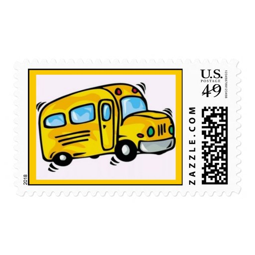 SCHOOL BUS GRAPHIC BACK ELEMENTARY GRADES LEARNING STAMP