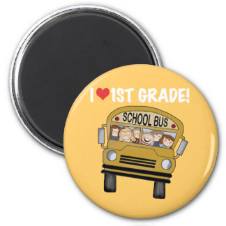 School Bus I Love 1st Grade Tshirts and Gifts Magnet