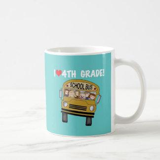 School Bus I Love 4th Grade Coffee Mug