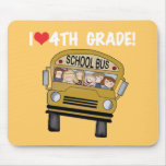 School Bus I Love 4th Grade Mousepad