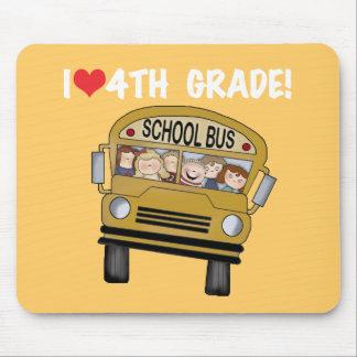 School Bus I Love 4th Grade Mouse Pad