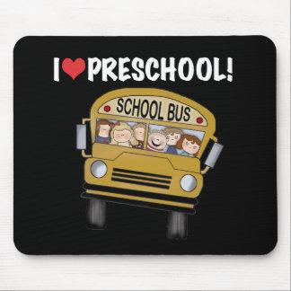 School Bus I Love Preschool Mouse Pad