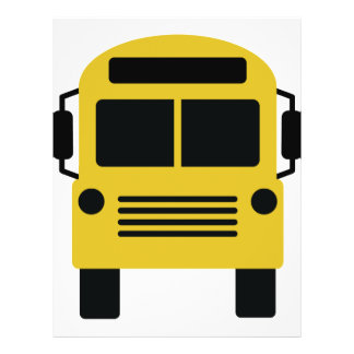 school bus icon custom flyer