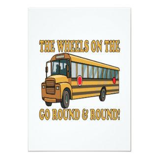 "School Bus 5"" X 7"" Invitation Card"