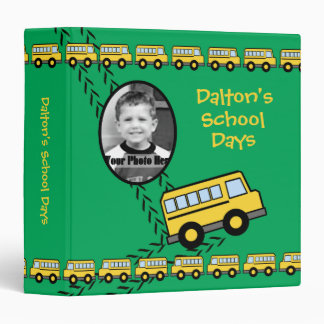 School Bus Keepsake with Photo Binder