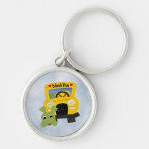 school, bus, key, chain, students, teacher, bus-driver, children, keys, Keychain with custom graphic design