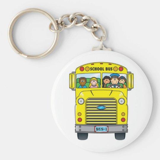 School Bus Keychain
