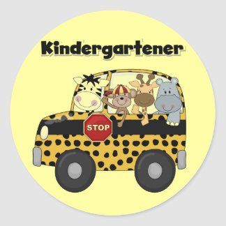 School Bus Kindergartener Tshirts and Gifts Classic Round Sticker