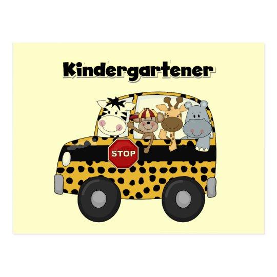 School Bus Kindergartener Tshirts and Gifts Postcard