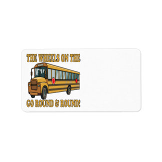 School Bus Label