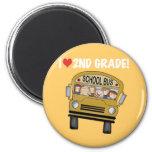 School Bus Love 2nd Grade Magnet