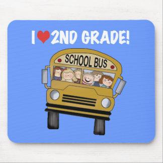 School Bus Love 2nd Grade Mousepad