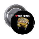 School Bus Love 3rd Grade Pins