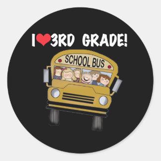 School Bus Love 3rd Grade Sticker