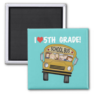 School Bus Love 5th Grade Tshirts and Gifts Refrigerator Magnet