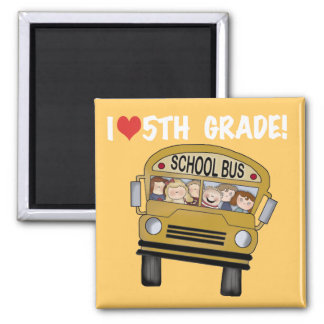 School Bus Love 5th Grade Tshirts and Gifts Fridge Magnets