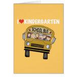 School Bus Love Kindergarten Greeting Card