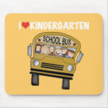 School Bus Love Kindergarten Mouse Pad