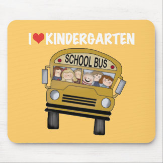 School Bus Love Kindergarten Mouse Pad