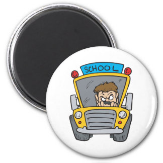 School Bus Fridge Magnet