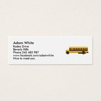 School bus mini business card