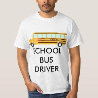 School Bus on Basic White T-Shirt