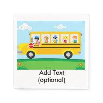 School Bus Paper Napkins